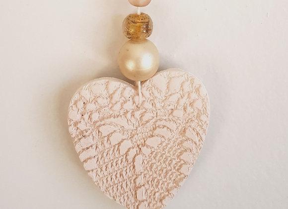 Diffuseur d'huile essentielle - Coeur blanc crème