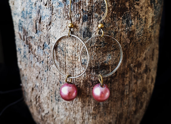 """Boucles d'oreilles """"Rose"""""""