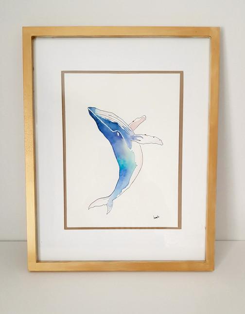 """Affiche """"Baleine"""""""