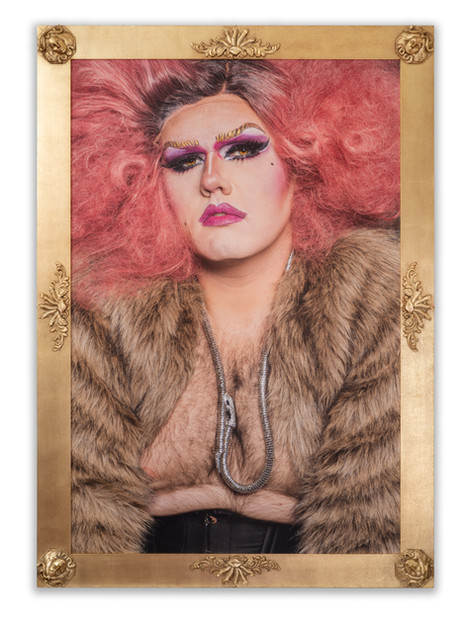 @ Beefcake_Dragqueen #queer #instagay #instabear Archival Inkjet Print, 3D Printed Frame 47x68 inches