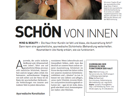 Artikel in Beauty & Health - Dezember 2016
