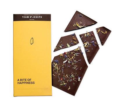 Zartbitterschokolade 70% 'A Bite Of Happiness' mit Blüten - 80g
