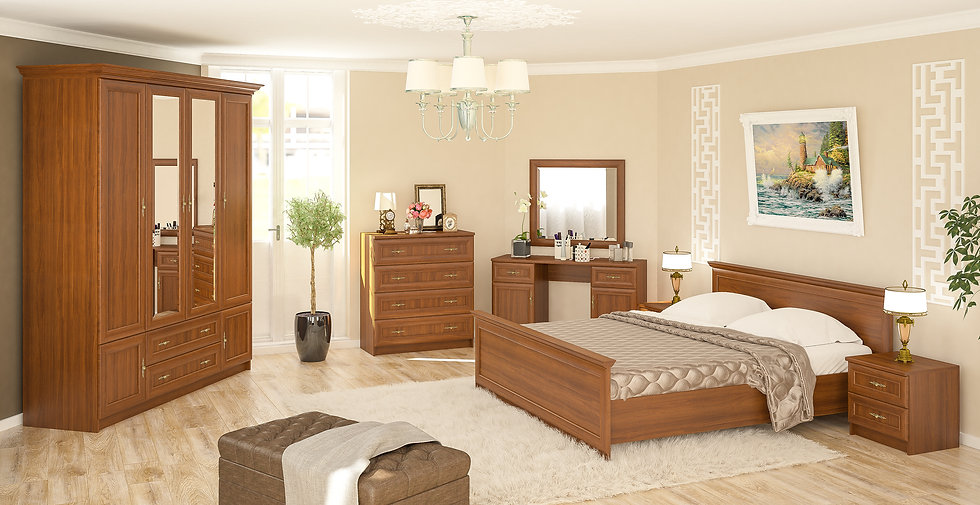 Спальня Даллас вишня