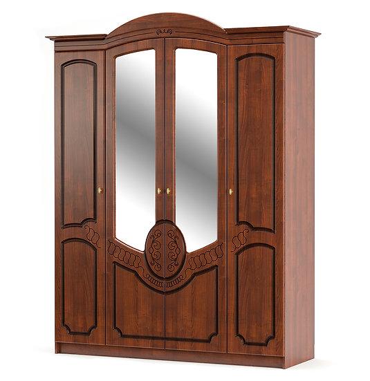 Шкаф 4Д Барокко вишня