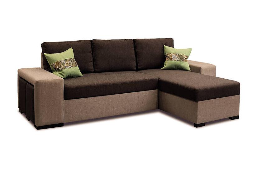 Угловой диван Леванте с пуфами