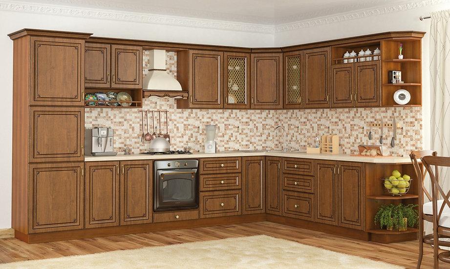 Кухня Гранд дуб золотой
