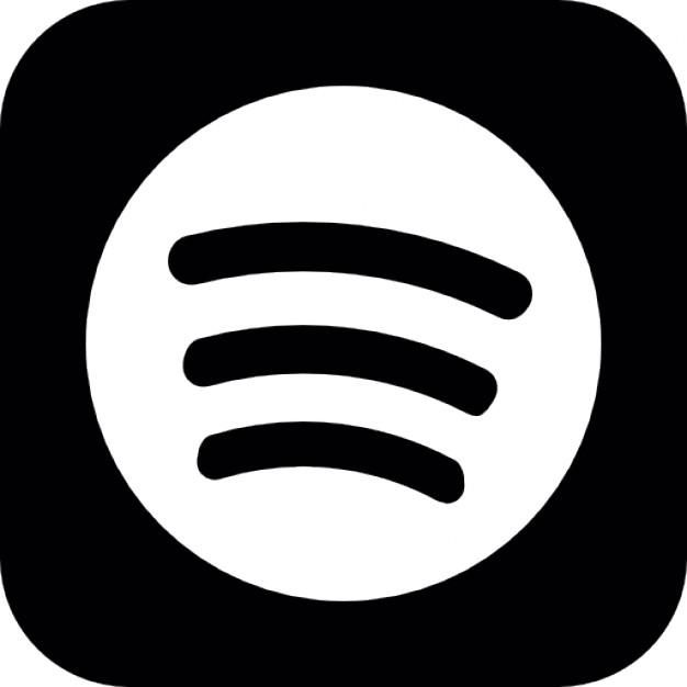 Afbeeldingsresultaat voor spotify logo zwart wit