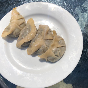 Kathryn Mae - veggie dumplings!