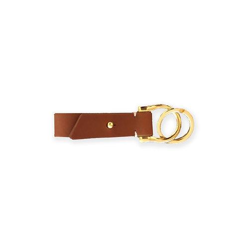 Leather Key Holder - Cognac