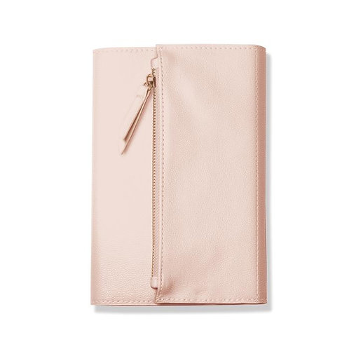Blush Leather Clutch - Journal