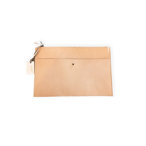 Hard Leather Table Case - Nude
