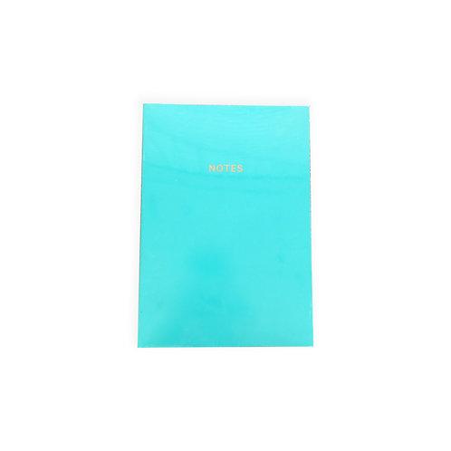 Teal Colourblocking Notebook