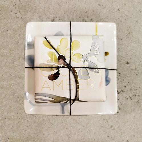 Ginger Clove & Amber Botanical Soap w/ Tray