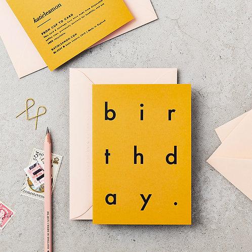 Extract Birthday Card