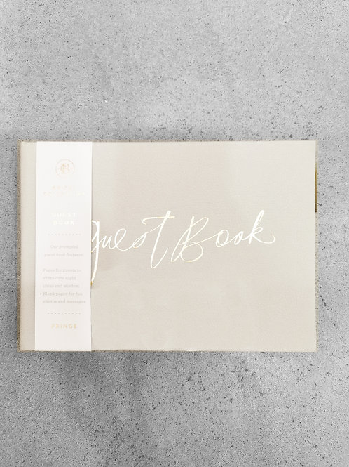 Guest Book - Leather (Grey)