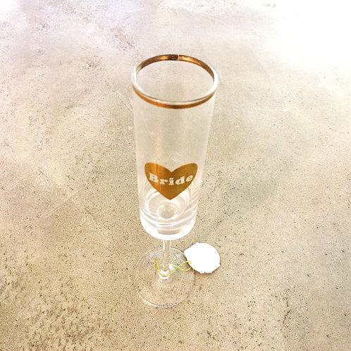 Bride Wedding Glass