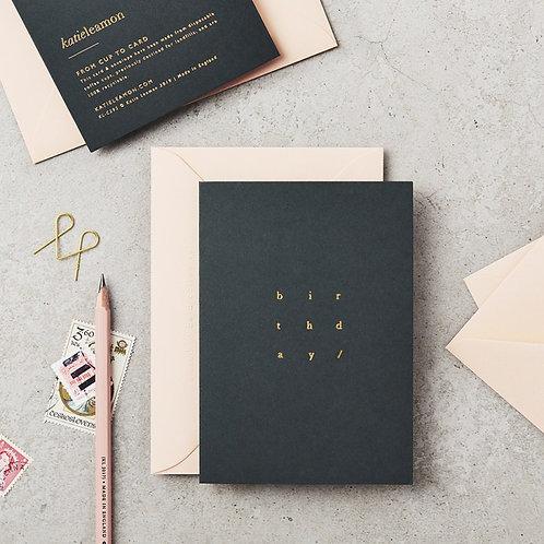 Cube Birthday Card Black/White