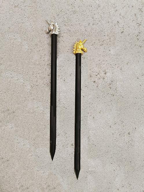 Unicorn Headed Pencil (Gold/Silver)