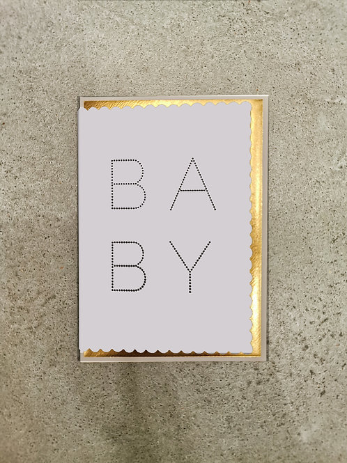 Luxe Baby Blue New Born Card