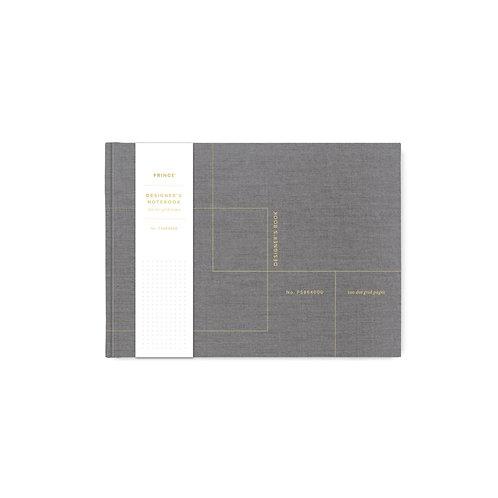 Designer Grid Cloth Notebook