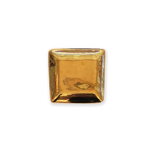 Gold Decorative Ceramic Tray - Small