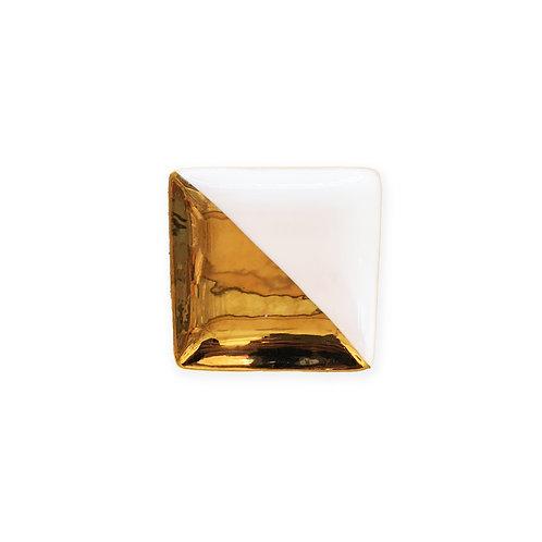 Gold Dip Decorative Ceramic Tray - Small