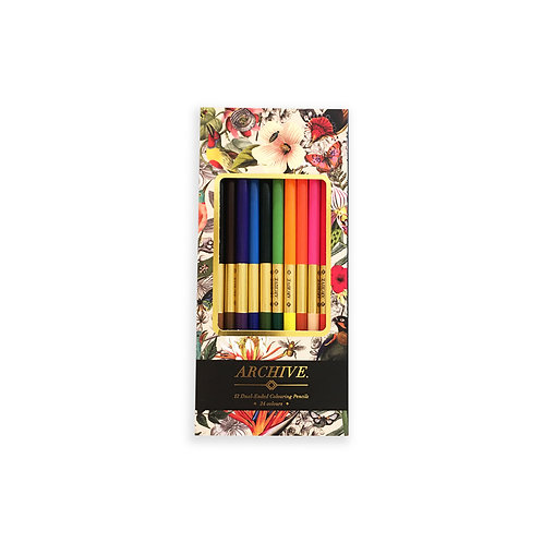 Dual Tip Colour Pencils - 24 Colours