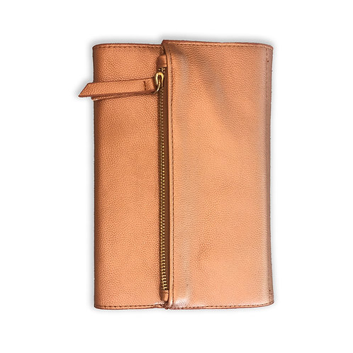 Copper Leather Clutch - Journal