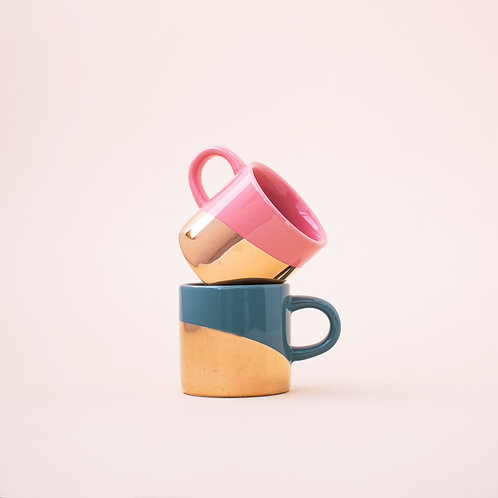 Gold Dip Set of Two Mini-Mugs