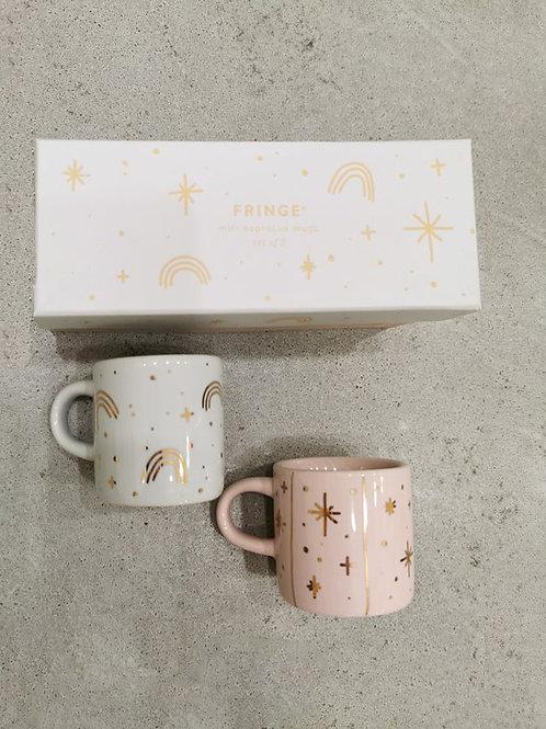 Rainbow Star - Mini Mug Set
