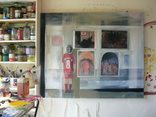 The understanding of the my paintings is in the making of them.