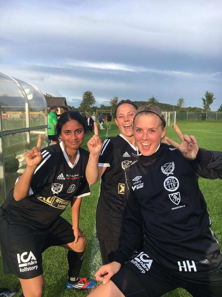 Det blev även ett målkalas idag när tjejerna spelade mot VGLT i Skällinge. Med slutsiffrorna 4-1 med en välspelad match.