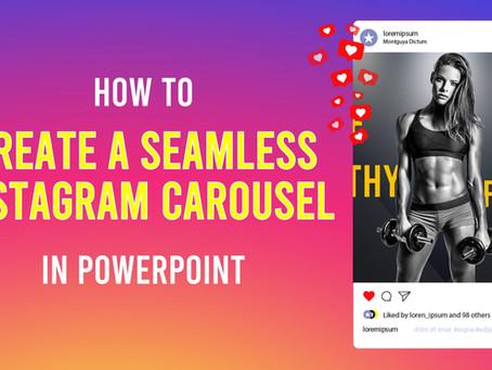 Create a seamless Instagram carousel in PowerPoint {Tutorial}