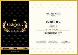 Festigious Int'l Film Festival Winner 20