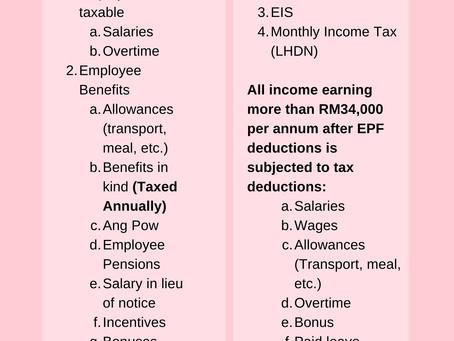 Employee Mandatory Deductions:  Singapore and Malaysia