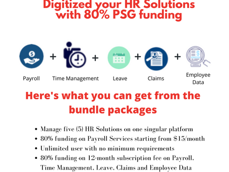 Claim additional funding on Digital HR and Payroll Solutions from the combined support of PSG & SFEC