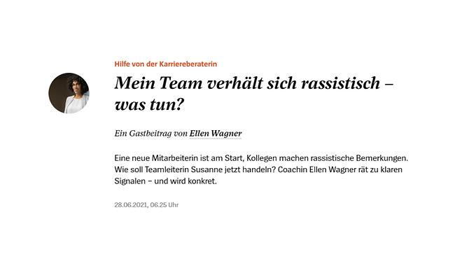 Spiegel Online Rassismus im Job - Ellen Wagner