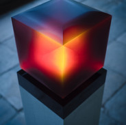 Expanding Cube. Red