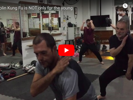 Shaolin Kung Fu is NOT only for the young.