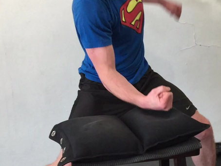 Jeremy smashing out traditional conditioning exercise