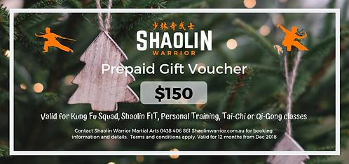 $150 Prepaid Gift Voucher