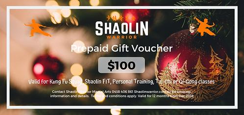 $100 Prepaid Gift Voucher