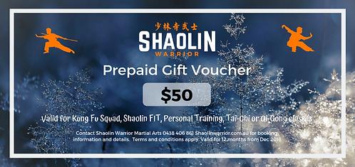 $50 Prepaid Gift Voucher
