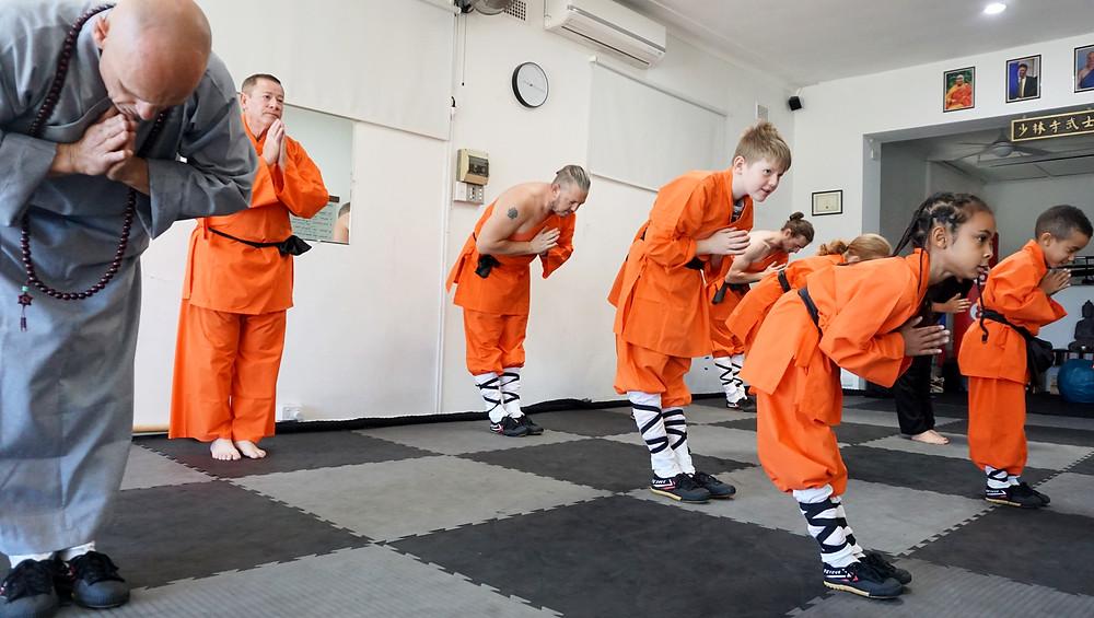 Shaolin Kung Fu demonstration practice