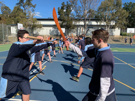 Year 8 High School Students learn Shaolin Kung Fu