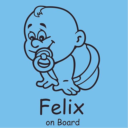 Plottkleber – Baby on Board 8