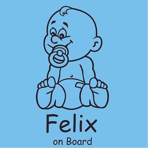 Plottkleber – Baby on Board 9