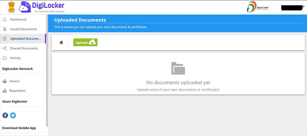 Uploaded Documents Section