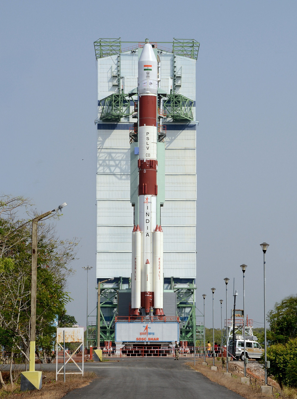 PSLV-C33 on the launch pad