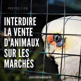 Vers la fin de la vente d'animaux sur les marchés